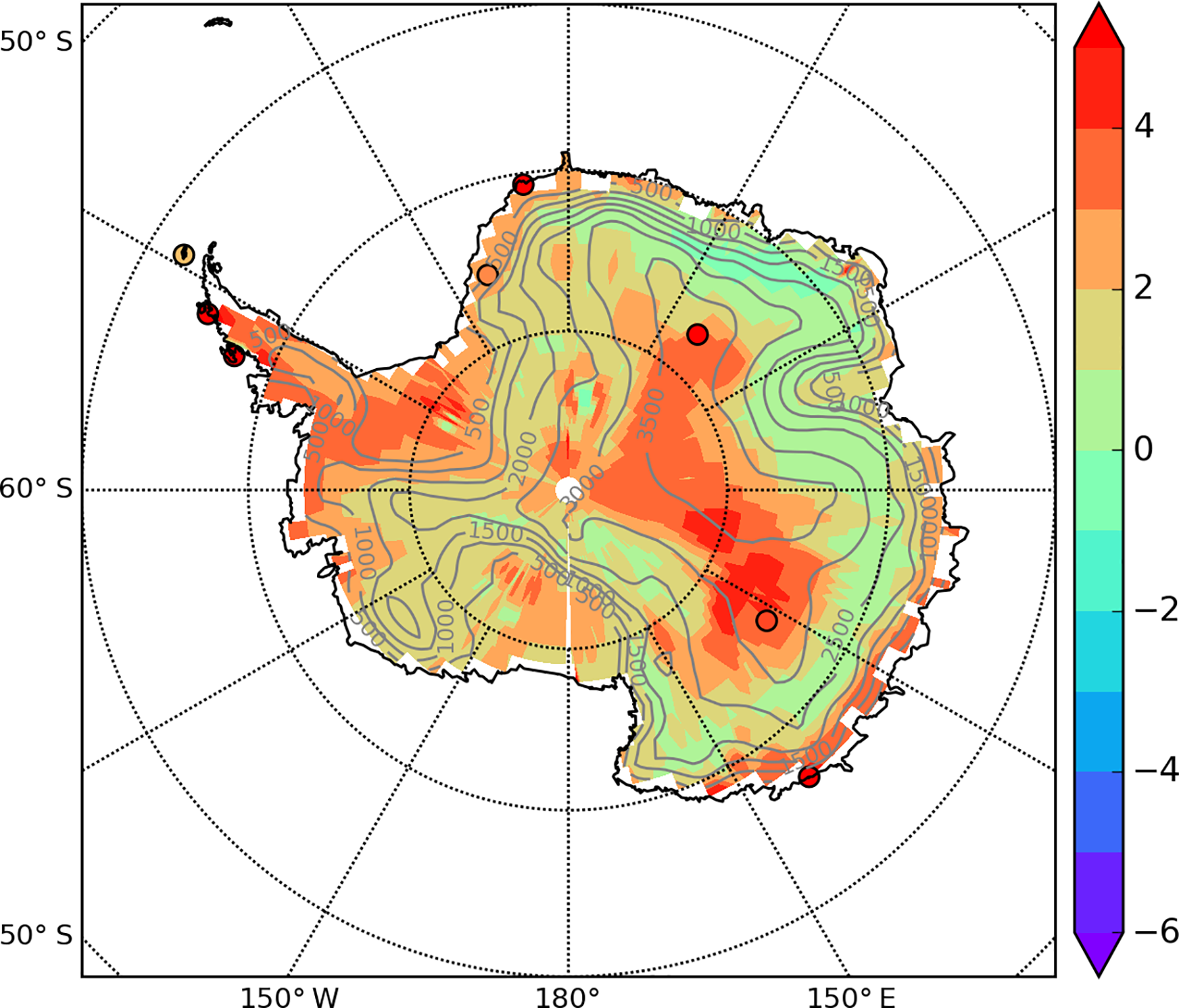 CP - Water stable isotope spatio-temporal variability in ... Topographic Map Of Antarctica Halley on green antarctica map, scott antarctica map, graham antarctica map,