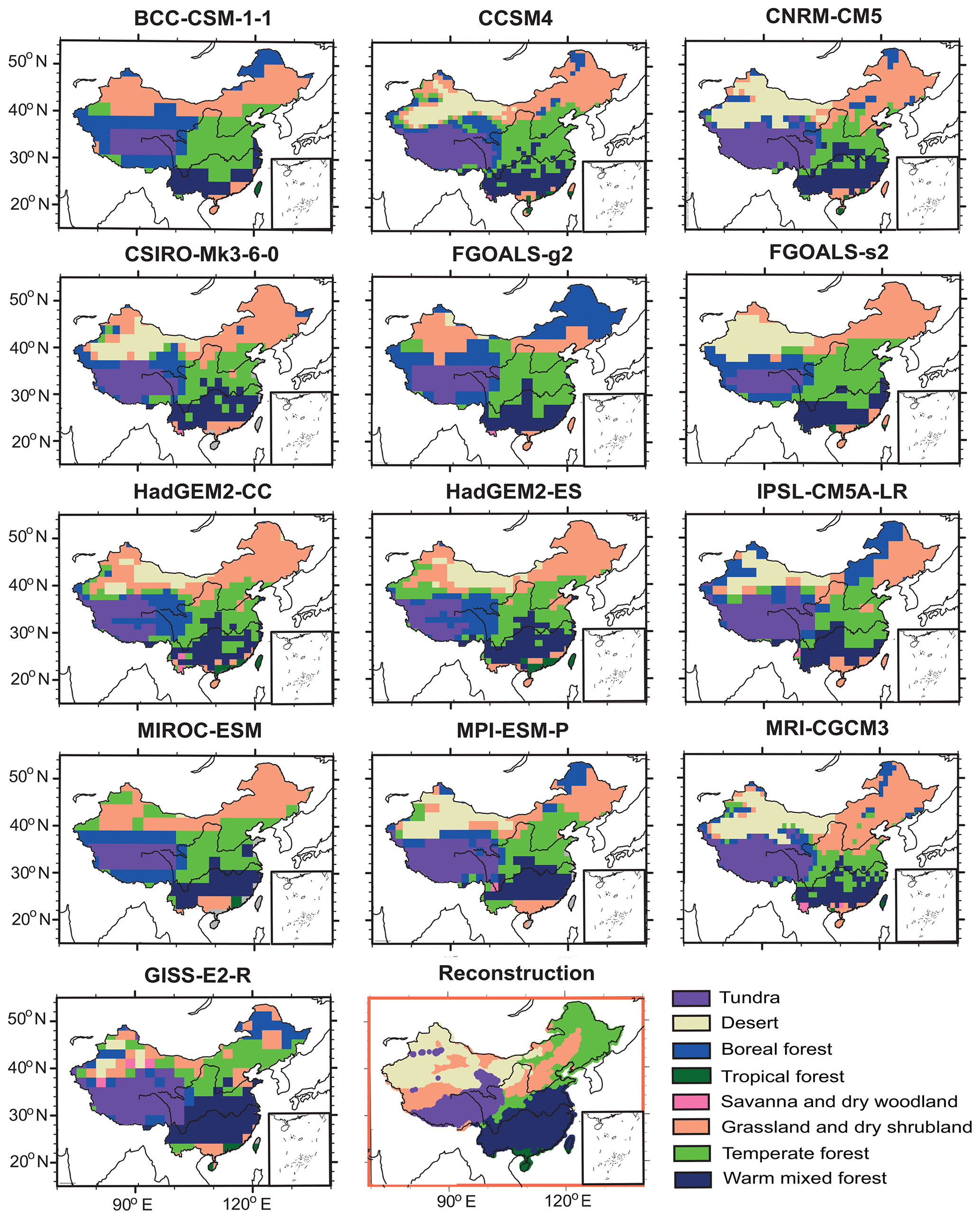 CP - Mid-Holocene climate change over China: model–data